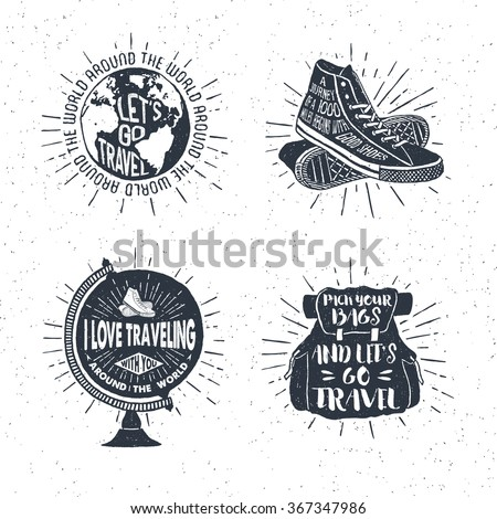 Stockfoto: Logo · embleem · vintage · reizen · badge
