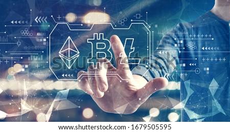 ビジネスマン · バーチャル · 画面 · ビジネス · 技術 - ストックフォト © dolgachov
