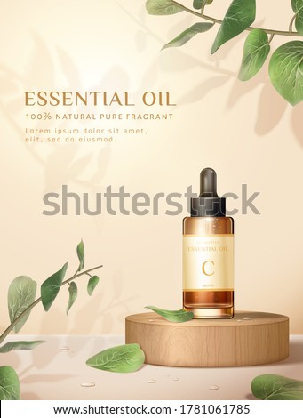 Cosmetic Bottle Poster Vector. Marketing Ads. Facial Care. Beauty Bckground. Spray, Cream. Liquid So Stock photo © pikepicture