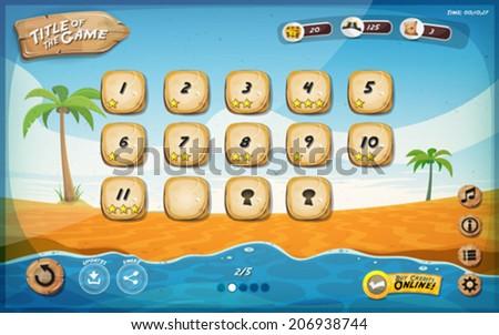 Summer beach game template Stock photo © colematt