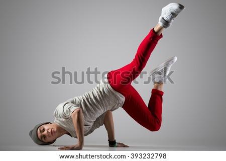 teen · hip · hop · ballerino · funky · guardando - foto d'archivio © deandrobot