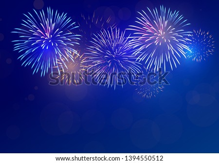 Firework Vector. Night Carnival Light. Holiday Anniversary Salute Burst. Isolated On Transparent Bac Stock photo © pikepicture