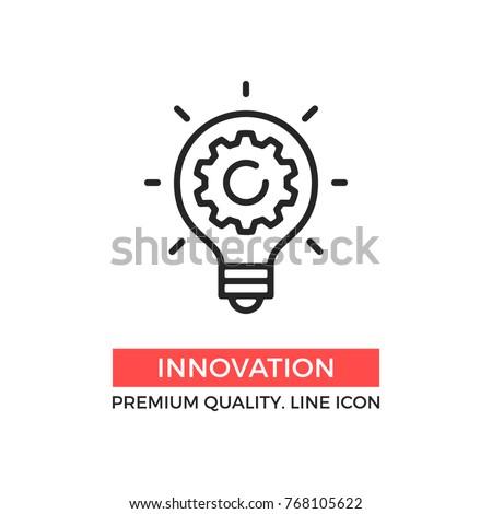 Fogaskerék lineáris ikon szimbólum terv vékony Stock fotó © kyryloff