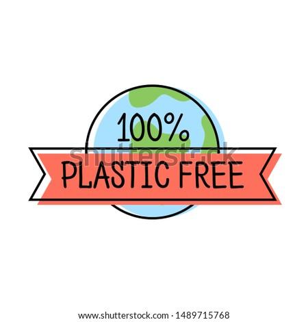 Plástico libre producto etiqueta logo línea Foto stock © MarySan