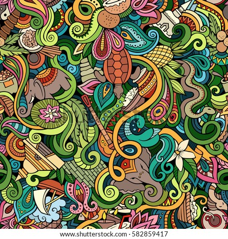 Desenho animado bonitinho cultura indiana Foto stock © balabolka