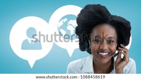 счастливым помощник женщину цифровой композитный компьютер Сток-фото © wavebreak_media