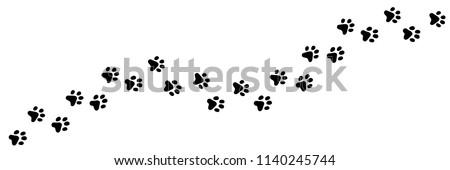 Poot print cartoon geïsoleerd witte clip art Stockfoto © doomko