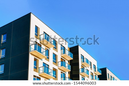 Empty commercial modern business office balcony with high ceiling  Stock photo © wavebreak_media