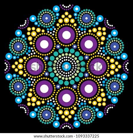 Kunst vector bloem star traditioneel Stockfoto © RedKoala