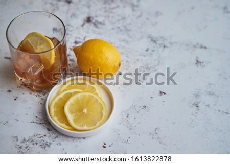 Whiskey aigre boire citron verre pierre Photo stock © dash