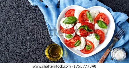 Banner italiana insalata caprese pomodori mozzarella Foto d'archivio © Illia