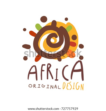 Cartoon vector doodles Africa illustration. african culture funny picture Stock photo © balabolka