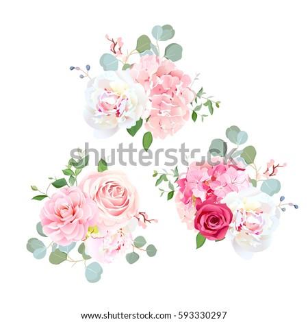 Romântico luxo buquê rosa rosas flores Foto stock © Anneleven