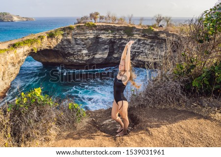 Turísticos roto playa Indonesia ángeles Foto stock © galitskaya