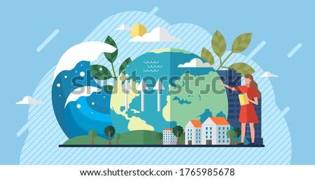Değiştirmek iklim geri dönüşüm atık büyüyen bitkiler Stok fotoğraf © robuart