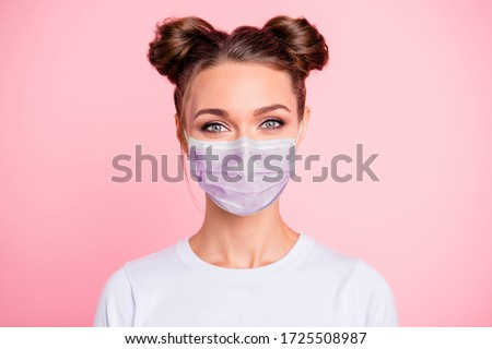 Closeup portrait of trendy pretty woman wearing stylish dress ho stock photo © HASLOO