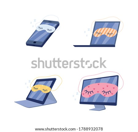 illustration of the turned off white computer tablet   horizonta stock photo © smeagorl