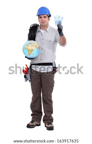 electricista · mundo · tierra · futuro · planeta - foto stock © photography33