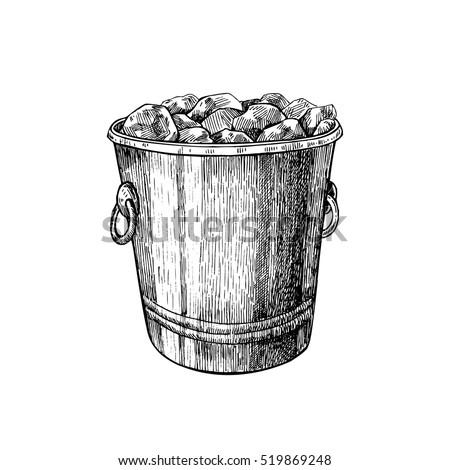 ボトル シャンパン 古い 銀 氷 バケット ストックフォト © serpla