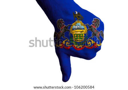rhode island us state flag thumbs down gesture for failure made  Stock photo © vepar5