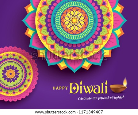 Diwali lampy piękna sztuki kolorowy wzór Zdjęcia stock © bharat