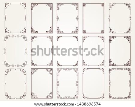 ornamental vintage rectangular border frames stock photo © adrian_n