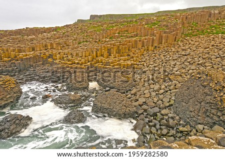 Basalt Columns and Pillow Lava at the Giant's Causeway Stock photo © wildnerdpix