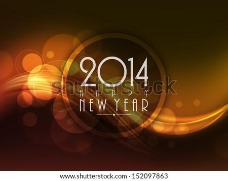 Vector Happy New Year 2014 card brochure presentation background Stock photo © bharat