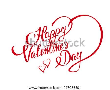 Belo feliz dia dos namorados mão elegante texto Foto stock © bharat