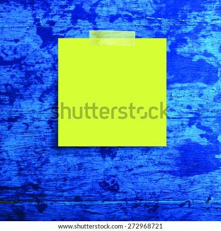 Blanco papier nota grunge houten exemplaar ruimte papier Stockfoto © nuiiko