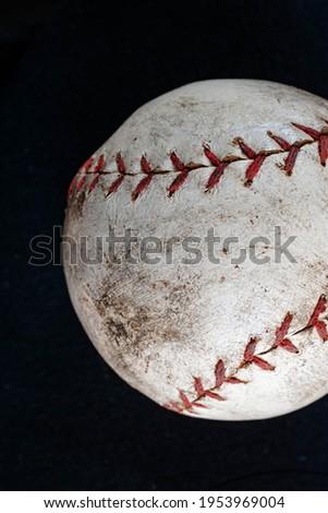 Baseball primo piano sporco Foto d'archivio © cmcderm1