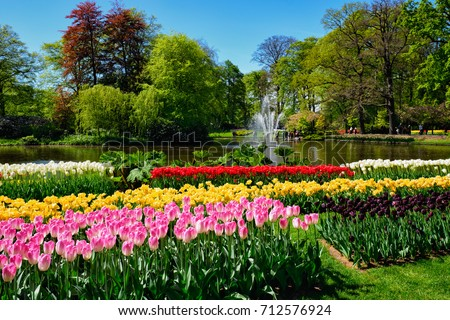 famous flowers park keukenhof in netherlands also known as the g stock photo © artjazz