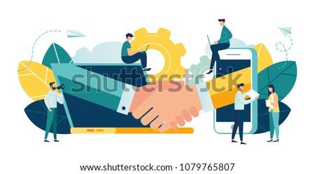 ontwerp · stijl · web · banners · teamwerk · succes - stockfoto © davidarts