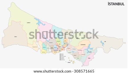 Istanbul Map with administrative districts where Sisli is pulled Stock photo © Istanbul2009