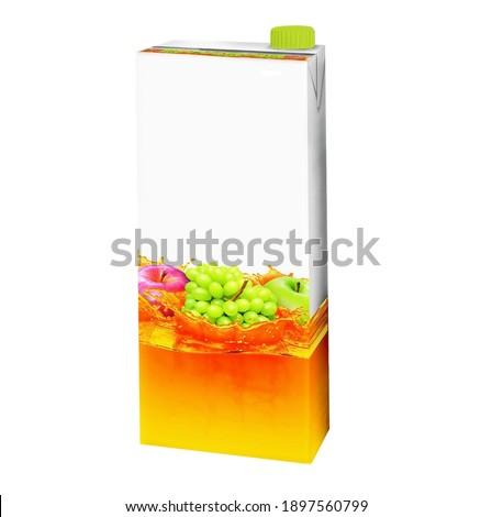Milk, Juice, Beverages, Carton Package Blank White On White Back Stock photo © netkov1