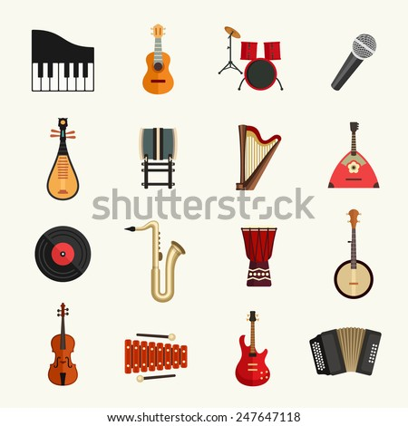 Set of musical instruments in club Stock photo © Elnur