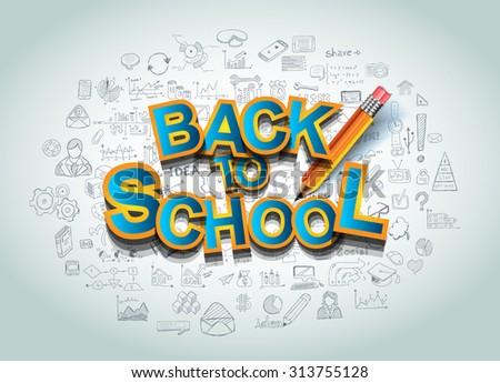 Vissza az iskolába könyvborító több anyag bemutató ceruza Stock fotó © DavidArts