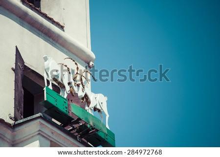 The mechanized goats, which butt heads daily at noon.Poznan,Pola Stock photo © Mariusz_Prusaczyk
