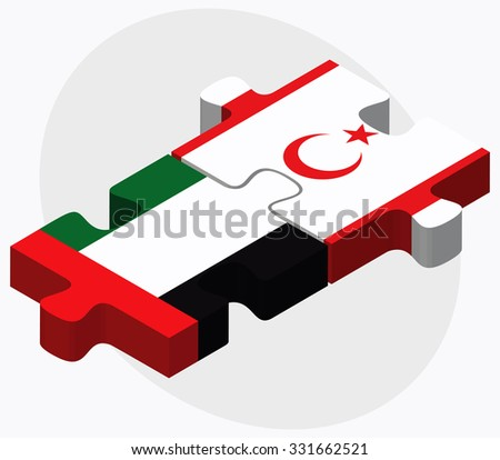 United Arab Emirates and Turkish Republic of North Cyprus Flags Stock photo © Istanbul2009