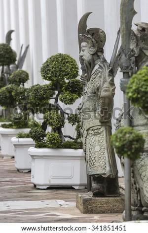 kő · gyám · Thaiföld · kínai · Bangkok · szobor - stock fotó © mariusz_prusaczyk