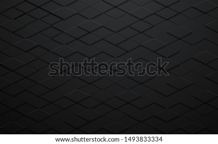 Geometric polygons background, abstract black metallic wallpaper, vector illustration Stock photo © kurkalukas