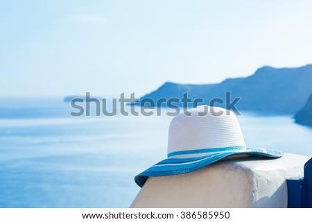 Avrupa · seyahat · yaz · hedef · santorini · adası · turist - stok fotoğraf © photocreo