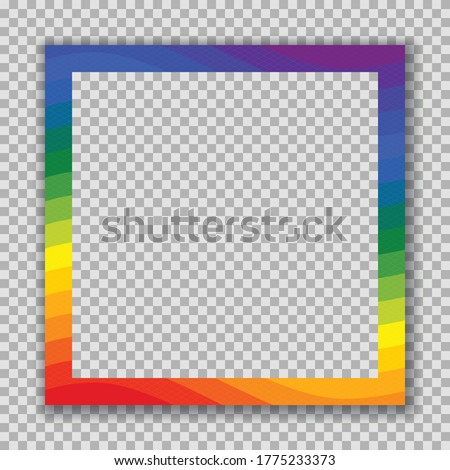 インスタント 写真 テンプレート 虹 画像 空っぽ ストックフォト © pashabo