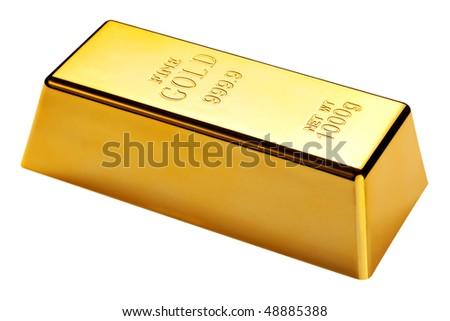 Aranyrúd izolált fehér vágási körvonal háttér arany Stock fotó © kayros