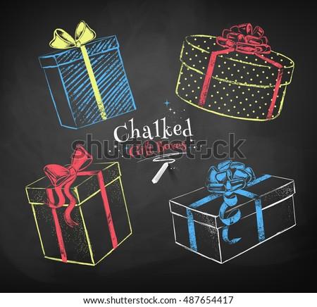 vektor · ajándék · dobozok · szív · doboz · levél - stock fotó © sonya_illustrations