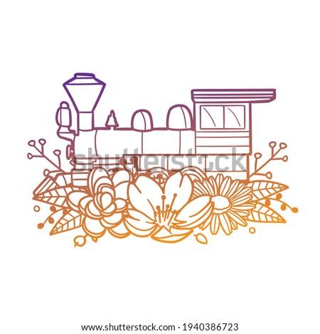Locomotiva imagem arquivo fundo viajar Foto stock © vectorworks51