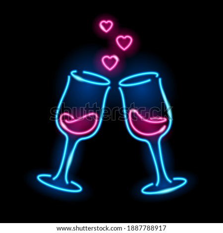 2 眼鏡 シャンパン バレンタインデー 孤立した ストックフォト © Natali_Brill