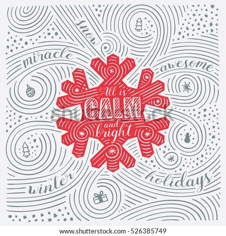 Incrível natal festival sazonal cartão projeto Foto stock © SArts