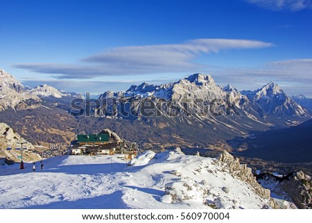panoramic view of dolomites mountains around cortina d ampezzo i stock photo © smuki