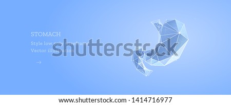 Stomach abstract treatment concept, human silhouette at the back Stock photo © Tefi